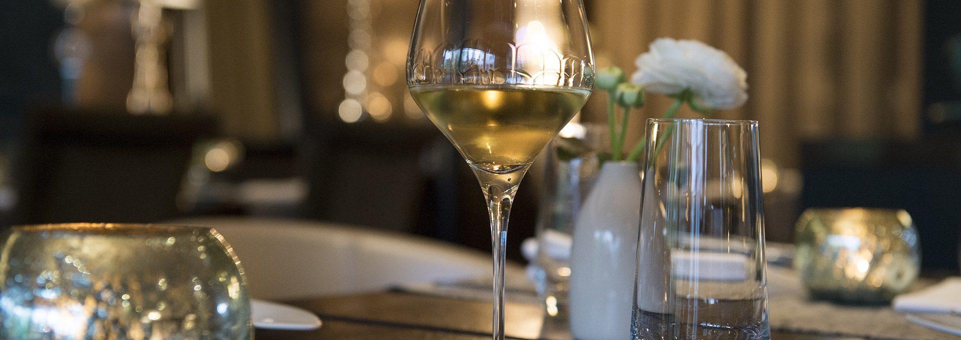 Detailaufnahme Weinglas