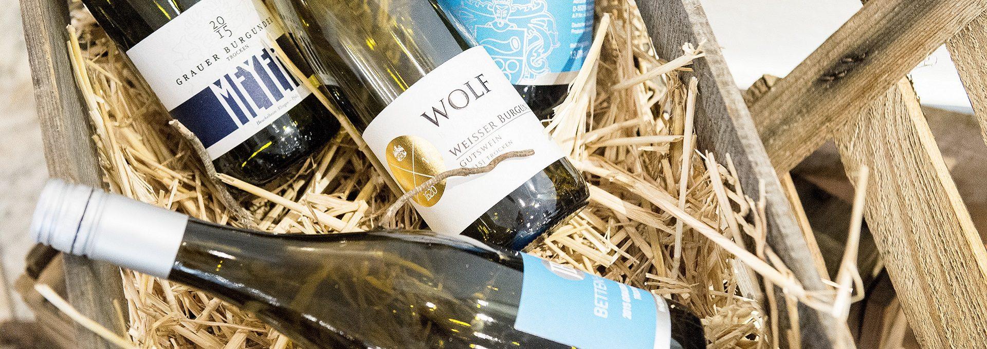 Aufnahme Weinflaschen