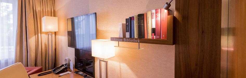 Comfort Doppelzimmer Atrium Bibliothek