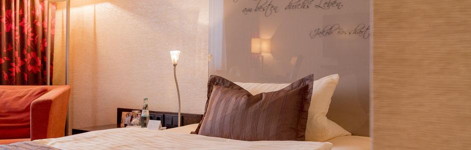 Comfort Einzelzimmer Bett Atrium Hotel Mainz