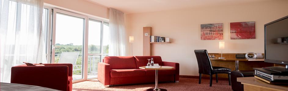 Aufnahme Wohnbereich Appartement