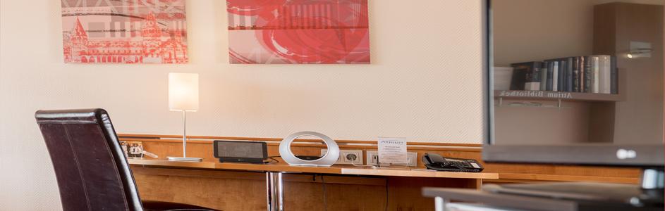 Detailaufnahme Schreibtisch Appartement