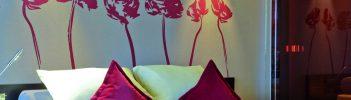 Detailaufnahme Bett Dleuxe Zimmer