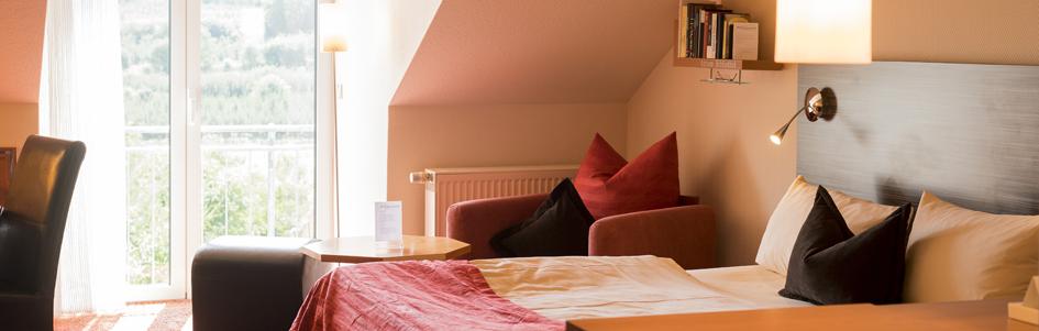 Aufnahme Bett Appartements