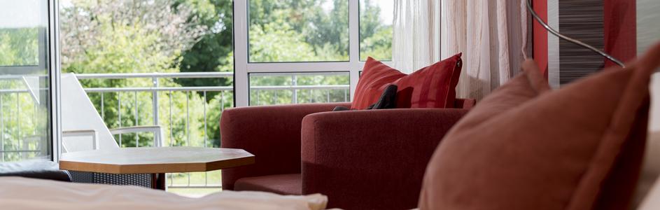 Detailaufnahme Sessel/ Balkon Appartements