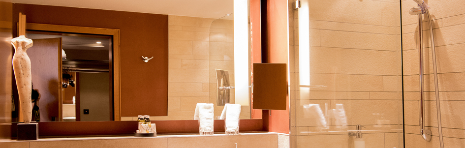 Nahaufnahme Badezimmer Superior Kategorie