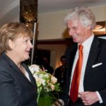 Aufnahme Inhaber Dr. Lothar Becker & Angela Merkel