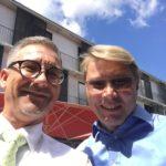 Mika Häkkinen und Direktionassistent Rene Bischel