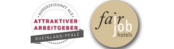 Logo Attraktiver Arbeitgeber, Fair Job Hotels
