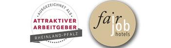 Logo Attraktiver Arbeitgeber, Fair Job Hotels