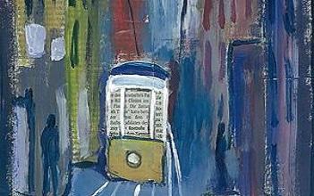 Gemälde Nachtzug nach Lissabon
