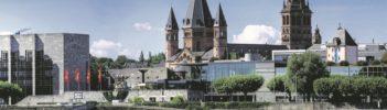 Rheinufer Mainz mit Dom