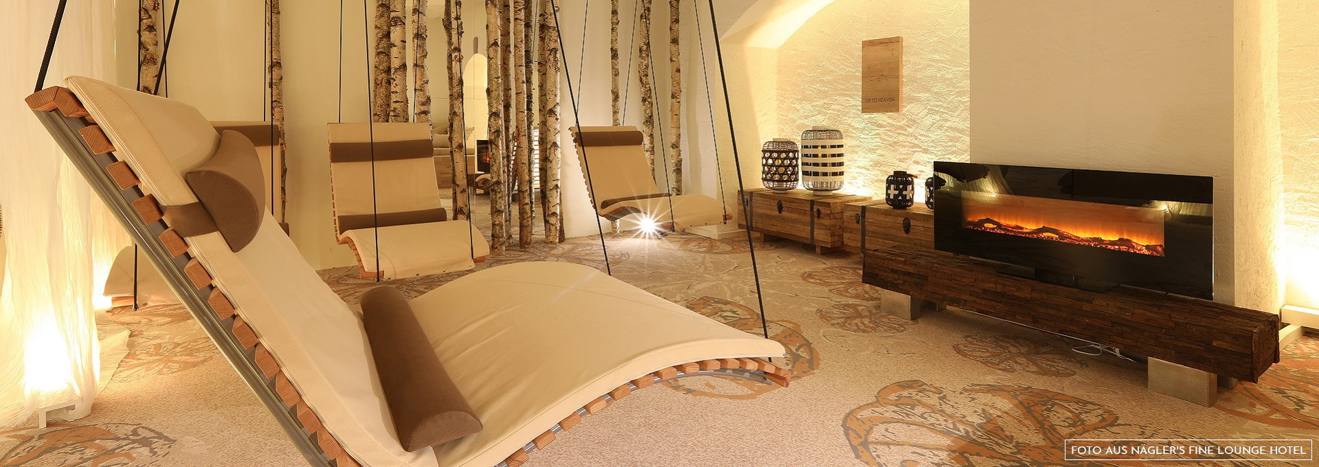 Hängeliegen im Spa Näglers Fine Lounge Hotel Oestrich-Winkel
